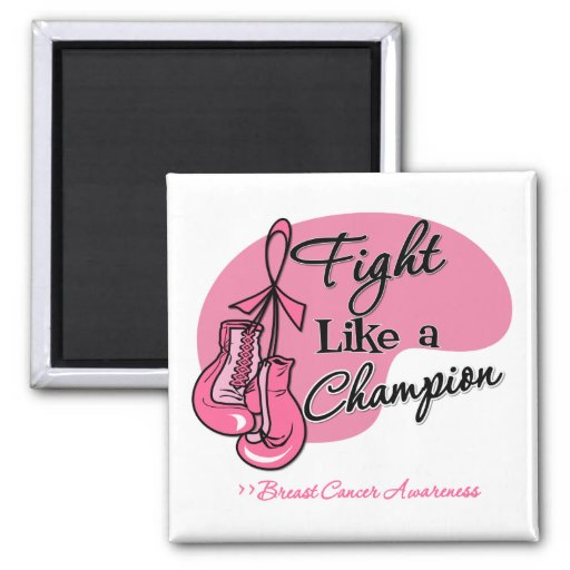 Fight Like a Champion Breast Cancer Fridge Magnets