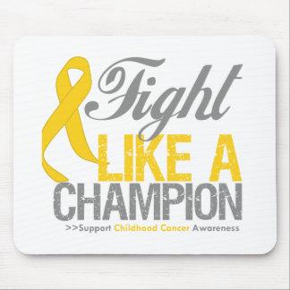 Fight Like a Champion Childhood Cancer Mousepads