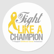 Fight Like a Champion Childhood Cancer Sticker