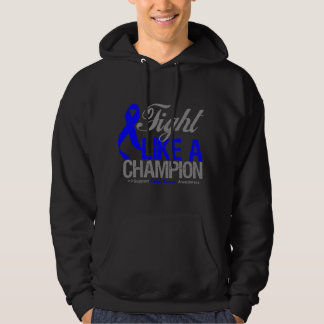 Fight Like a Champion Colon Cancer Hooded Sweatshirts