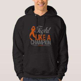 Fight Like a Champion Leukemia Hooded Sweatshirts