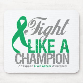 Fight Like a Champion Liver Cancer Mouse Pad