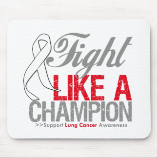 Fight Like a Champion Lung Cancer Mouse Pad