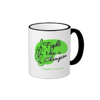 Fight Like a Champion Lymphoma Coffee Mugs