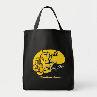 Fight Like a Champion - Neuroblastoma Cancer Grocery Tote Bag