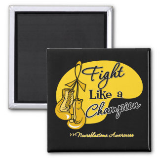 Fight Like a Champion - Neuroblastoma Cancer 2 Inch Square Magnet