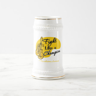 Fight Like a Champion - Neuroblastoma Cancer 18 Oz Beer Stein