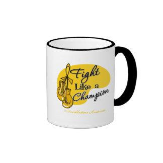Fight Like a Champion - Neuroblastoma Cancer Ringer Coffee Mug