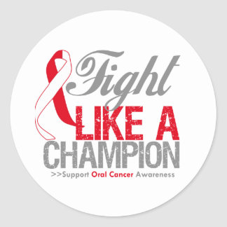 Fight Like a Champion Oral Cancer Sticker