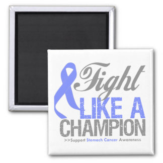 Fight Like a Champion Stomach Cancer 2 Inch Square Magnet