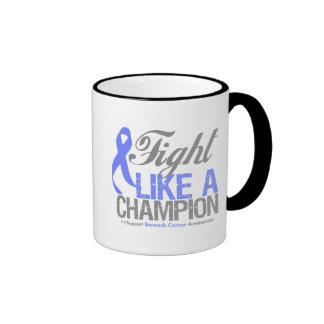 Fight Like a Champion Stomach Cancer Ringer Coffee Mug