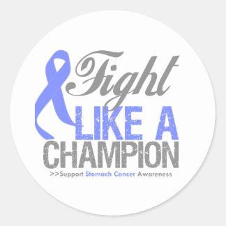 Fight Like a Champion Stomach Cancer Round Sticker