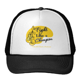 Fight Like a Champion Testicular Cancer Trucker Hats