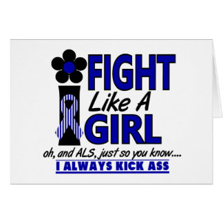 Fight Like A Girl 1.2 ALS Lou Gehrig's Disease Greeting Card