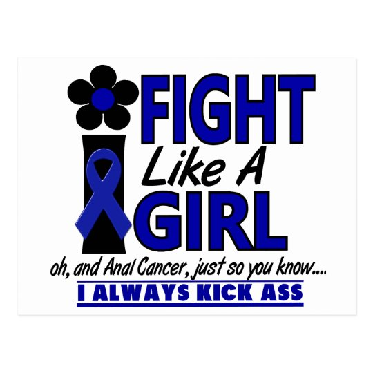 Fight Like A Girl 1.2 Anal / Rectal Cancer Postcard