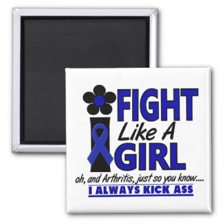 Fight Like A Girl 1.2 Arthritis 2 Inch Square Magnet