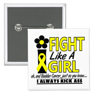 Fight Like A Girl 1.2 Bladder Cancer Pinback Buttons