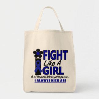 Fight Like A Girl 1.2 Rheumatoid Arthritis Grocery Tote Bag