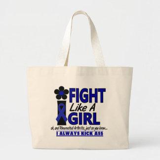 Fight Like A Girl 1.2 Rheumatoid Arthritis Jumbo Tote Bag