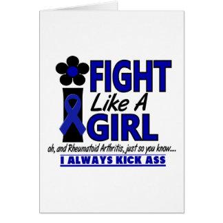 Fight Like A Girl 1.2 Rheumatoid Arthritis Greeting Card