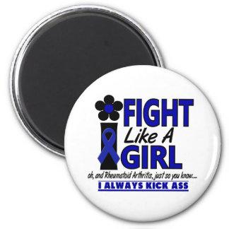 Fight Like A Girl 1.2 Rheumatoid Arthritis 2 Inch Round Magnet