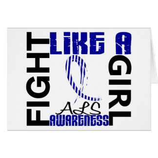 Fight Like A Girl 3.3 ALS Greeting Card