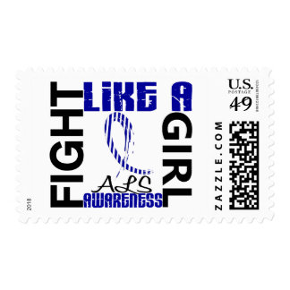 Fight Like A Girl 3.3 ALS Postage Stamps