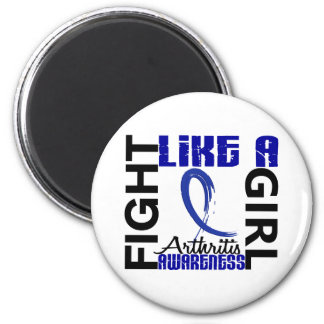 Fight Like A Girl 3.3 Arthritis 2 Inch Round Magnet
