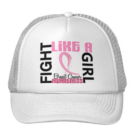 Fight Like A Girl 3.3 Breast Cancer Trucker Hat