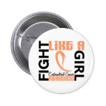 Fight Like A Girl 3.3 Endometrial Cancer Pinback Button