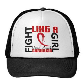 Fight Like A Girl 3.3 Heart Attack Survivor Mesh Hat