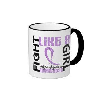 Fight Like A Girl 3.3 Hodgkin's Lymphoma Ringer Coffee Mug