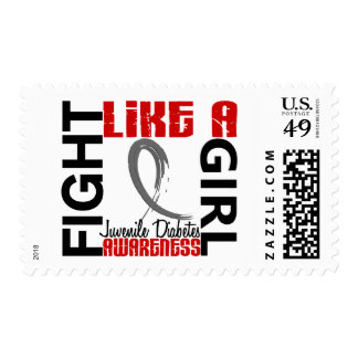 Fight Like A Girl 3.3 Juvenile Diabetes Postage Stamps
