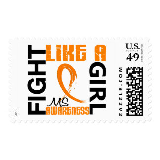 Fight Like A Girl 3.3 MS aka Multiple Sclerosis Stamp