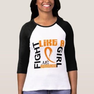 Fight Like A Girl 3.3 MS aka Multiple Sclerosis Tees