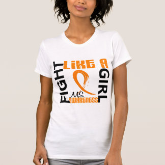 Fight Like A Girl 3.3 MS aka Multiple Sclerosis T Shirts