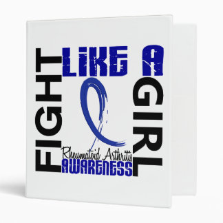 Fight Like A Girl 3.3 Rheumatoid Arthritis Vinyl Binder
