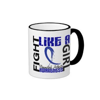 Fight Like A Girl 3.3 Rheumatoid Arthritis Ringer Coffee Mug
