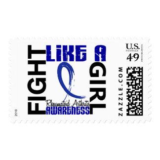 Fight Like A Girl 3.3 Rheumatoid Arthritis Postage Stamps