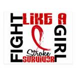 Fight Like A Girl 3.3 Stroke Survivor Postcards