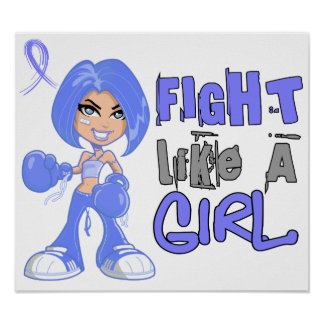 Fight Like a Girl 42.8 Addison's Disease Poster