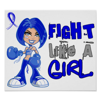 Fight Like a Girl 42.8 Guillain Barre Syndrome Posters