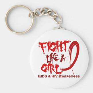 Fight Like A Girl 5.3 AIDS Key Chains