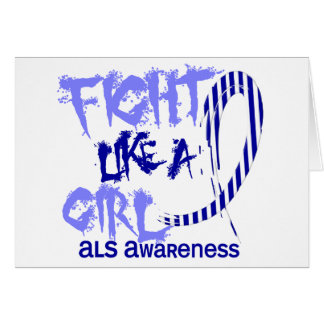 Fight Like A Girl 5.3 ALS Greeting Card