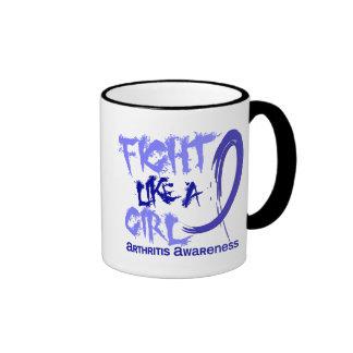 Fight Like A Girl 5.3 Arthritis Coffee Mugs