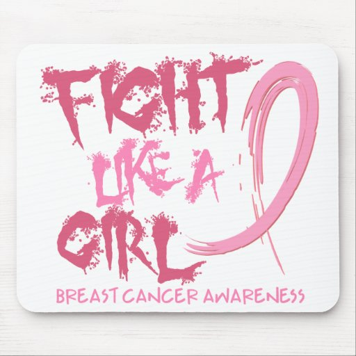 Fight Like A Girl 5.3 Breast Cancer Mouse Pad