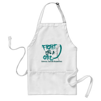 Fight Like A Girl 5.3 Cervical Cancer Adult Apron