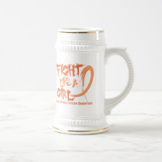 Fight Like A Girl 5.3 Endometrial Cancer Beer Stein