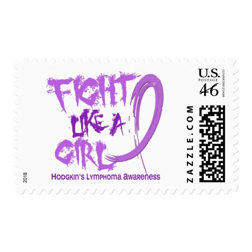 Fight Like A Girl 5.3 Hodgkin's Lymphoma Postage Stamps
