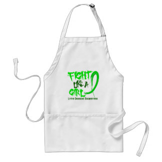 Fight Like A Girl 5.3 Lyme Disease Adult Apron